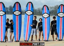 Mixed Singaporean and Malaysian Group Surf lesson 15-16th December 2012