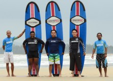 13-16th January 2014 weekday surf lesson session