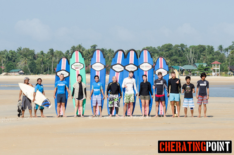 1-2nd week of February 2015 surf lesson session at cheratingpoint surf school