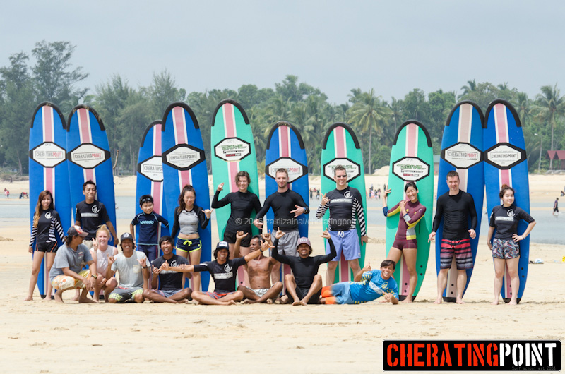 Chinese new year week/weekend – February 2015 surf lesson session at cheratingpoint surf school