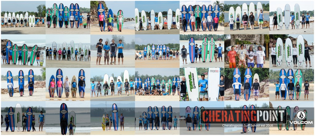 Last Monsoon season 2014/2015 session at Cheratingpoint surf school Malaysia