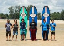 Second weekend surf lesson session after re-opening at Cheratingpoint surf school season 2015/2016