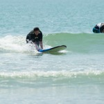 Early season surf lesson at cheratingpoint surf school.