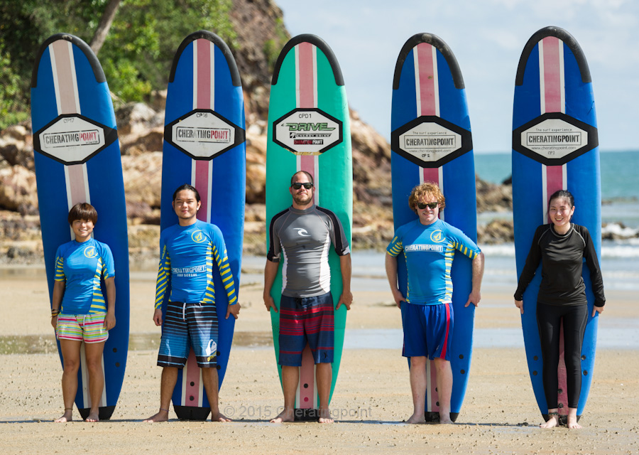 November 18 surf lesson at cheratingpoint surf school.