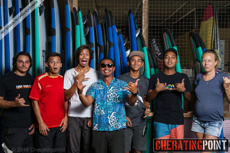 Cheratingpoint surf school team.