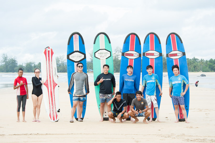 Surf lesson session, weekend 3-4th December 2016 at CheratingPoint Surf School