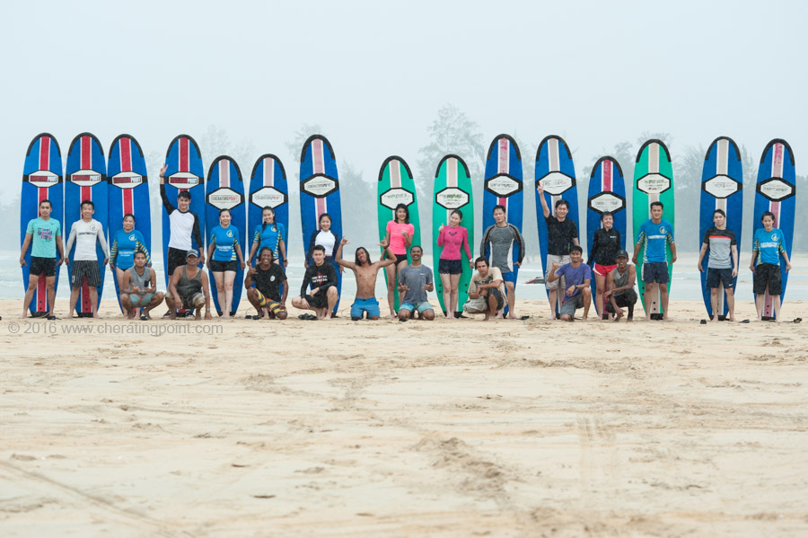 Surf lesson session, weekend 10-11th December 2016 at CheratingPoint Surf School
