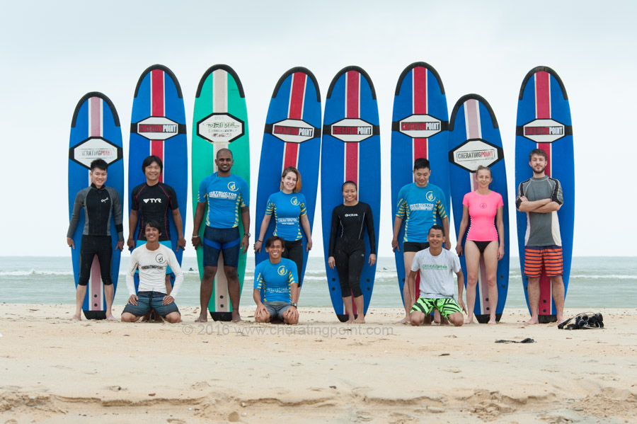 Surf lesson session, Christmas and weekend 17-18th December 2016 at CheratingPoint Surf School