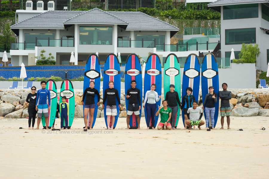 Surf lesson session, weekend 17-19th February  2017 at CheratingPoint Surf School