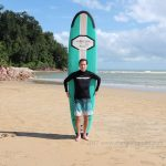 Norman From Peru first private surf lesson.
