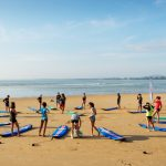 warming up is the must at our surf school.Cr. Photographer : @Raj Hegde