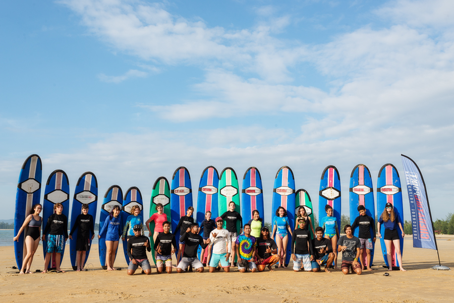 18-19th January 2018 French School Kuala Lumpur 56 students surfing lesson session