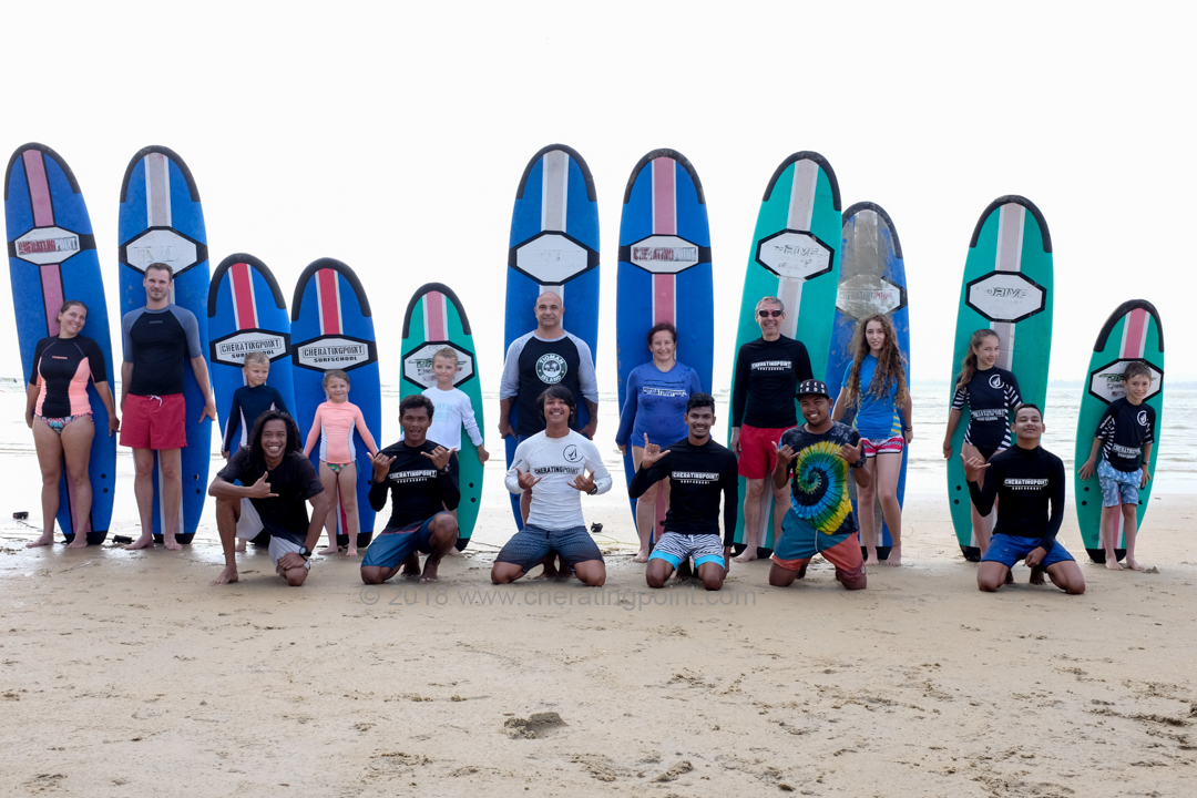 1-4th February 2018 surf lesson session at Cheratingpoint surf school