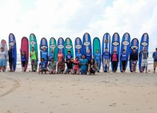 23-24th January 2016 weekend's Surf lesson session