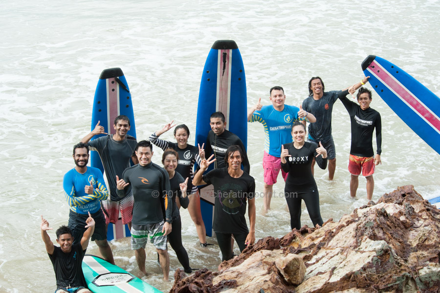 Surf lesson session, New year 2017,1st week of January weekend and 27-29th December 2016 at CheratingPoint Surf School